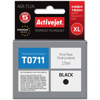 ACTIVEJET AEB-711N Tusz do drukarki Epson zastępuje tusz Epson T0711 czarny