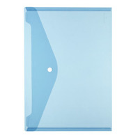 HERLITZ Teczka plastikowa A4 na zatrzask Niebieska transparentna