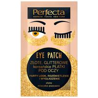 PERFECTA Eye Patch Złote glitterowe koreańskie płatki pod oczy