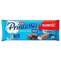 PRINCESSA Mini Wafel przekładany kremem kakaowym oblany mleczną czekoladą (8 x 13 g)