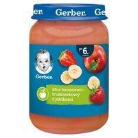 GERBER Mus bananowo-truskawkowy z jabłkami dla niemowląt po 6. m-cu