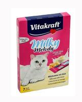 Vitakraft milky melody karma uzupełniająca dla kotów. Delikatny krem z dodatkiem sera
