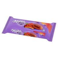 MILKA Choco Jaffa Biszkopty z galaretką o smaku malinowym oblane czekoladą mleczną