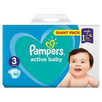 PAMPERS Active Baby Pieluszki Rozmiar 3 (6-10 kg)