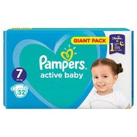 PAMPERS Active Baby Rozmiar 7 15 kg+