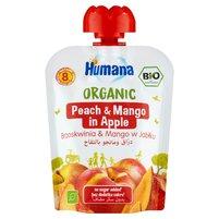 HUMANA Organic Mus brzoskwinia & mango w jabłku po 8. m-cu