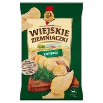 WIEJSKIE ZIEMNIACZKI Chipsy ziemniaczane o smaku koperku