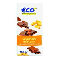 ECO+ Czekolada mleczna z orzeszkami arachidowymi