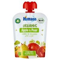 HUMANA Organic Mus jabłko & gruszka po 4. m-cu