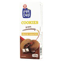 WIODĄCA MARKA P'tit Deli Ciastka kruche kakaowe z kremem czekoladowym