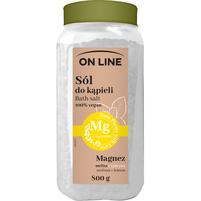 ON LINE Sól do kąpieli z magnezem Melisa + cytryna