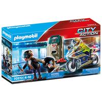 PLAYMOBIL City Action Policyjny motor: Pościg za przestępcą 70572 (4+)