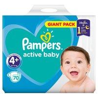 PAMPERS Active Baby Pieluszki Rozmiar 4+ (10-15 kg)