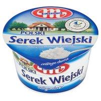 MLEKOVITA Wiejski Polski naturalny Serek twarogowy ziarnisty ze śmietanką