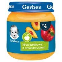 GERBER Mus jabłkowy z brzoskwiniami dla niemowląt po 4. m-cu