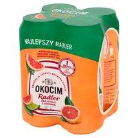 OKOCIM Radler Grejpfrut z limonką Piwo z lemoniadą (4 x 500 ml)