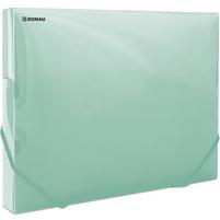 DONAU Teczka A4 z gumką zielona transparentna (3cm szer.)