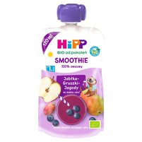 HiPP BIO Smoothie Mus z owoców i soków po 1. roku jabłka-gruszki-jagody