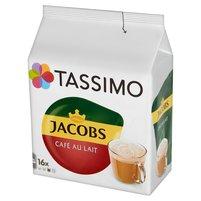 TASSIMO Jacobs Café au Lait Napój w proszku z kawą rozpuszczalną i mlekiem (16 kaps.)