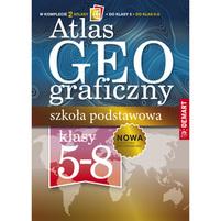 DEMART Atlas geograficzny. Szkoła podstawowa. Klasa 5-8 (okładka miękka)
