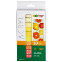 HAPPY COLOR Farby akrylowe odcienie żółtego