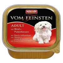 ANIMONDA Vom Feinsten Adult Mokra karma dla psów z wołowiną i sercami indyczymi