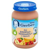 GERBER Mus bananowo-truskawkowy z jabłkami po 6. m-cu