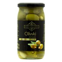 WIODĄCA MARKA Kwintesencja Smaku Oliwki zielone nadziewane migdałami