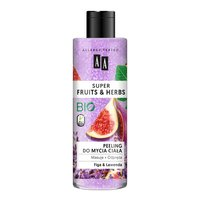 AA Super Fruits&Herbs peeling do mycia ciała figa&lawenda