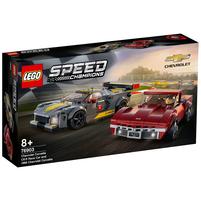 LEGO Speed Champions Samochód wyścigowy Chevrolet Corvette C8.R i 1968 Chevrolet Corvette 76903 (8+)