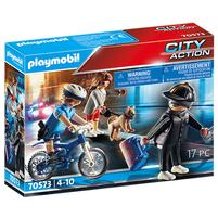 PLAYMOBIL City Action Policyjny rower: Pościg za kieszonkowcem 70573 (4+)