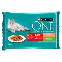 PURINA ONE Sterilcat Karma dla kotów sterylizowanych (4 x 85 g)