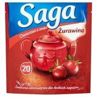 SAGA Herbatka owocowa o smaku żurawina (20 tb.)