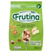 NESTLE Frutina Owoce i Błonnik Płatki z pełnego ziarna pszenicy z jabłkami i rodzynkami