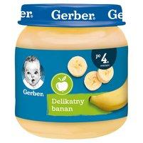 GERBER Delikatny banan dla niemowląt po 4. m-cu