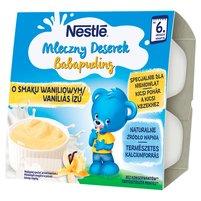NESTLE Mleczny Deserek o smaku waniliowym dla niemowląt po 6. m-cu (4 x 100 g)