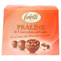 FELETTI Praliny z czekolady mlecznej nadziewane orzechami i chrupkami