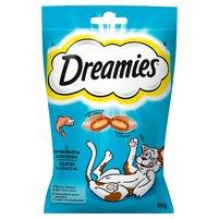 DREAMIES z wybornym łososiem Karma uzupełniająca dla kotów i kociąt