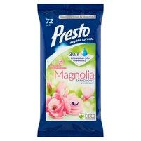 PRESTO Ściereczki nawilżane uniwersalne o zapachu magnolii