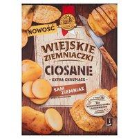 WIEJSKIE ZIEMNIACZKI Ciosane Chipsy ziemniaczane grubo krojone solone