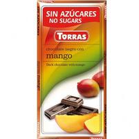 TORRAS Czekolada gorzka z mango bez dodatku cukru