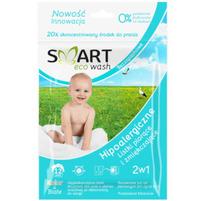 SMART ECO WASH Hipoalergiczne listki do prania 2w1 bezzapachowe (14 prań)