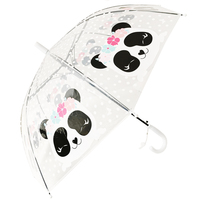 ARETO Parasol dziecięcy automatyczny 48,5cm transparentny