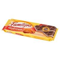 FAMILIJNE Gofrowe wafle z kremem o smaku karmelowym