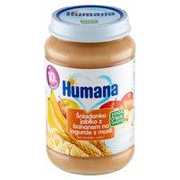 HUMANA 100% Organic Śniadanko jabłko z bananem na jogurcie z musli po 10. m-cu