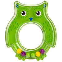 CANPOL BABIES Grzechotka dla niemowląt sowa zielona 0m+