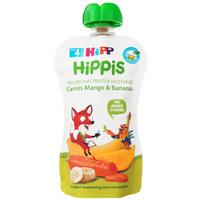 HiPP BIO HiPPiS Mus owocowy do niemowląt po 4 m-cu marchewka-mango-banany