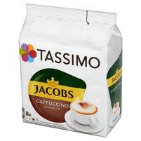 TASSIMO Jacobs Cappuccino Classico Kawa mielona (8 kaps.) i mleko (8 kaps.)