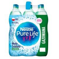 NESTLE Pure Life Woda źródlana gazowana (6 x 1,5L)