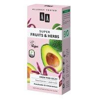AA Super Fruits&Herbs krem pod oczy nawilżenie + jędrność